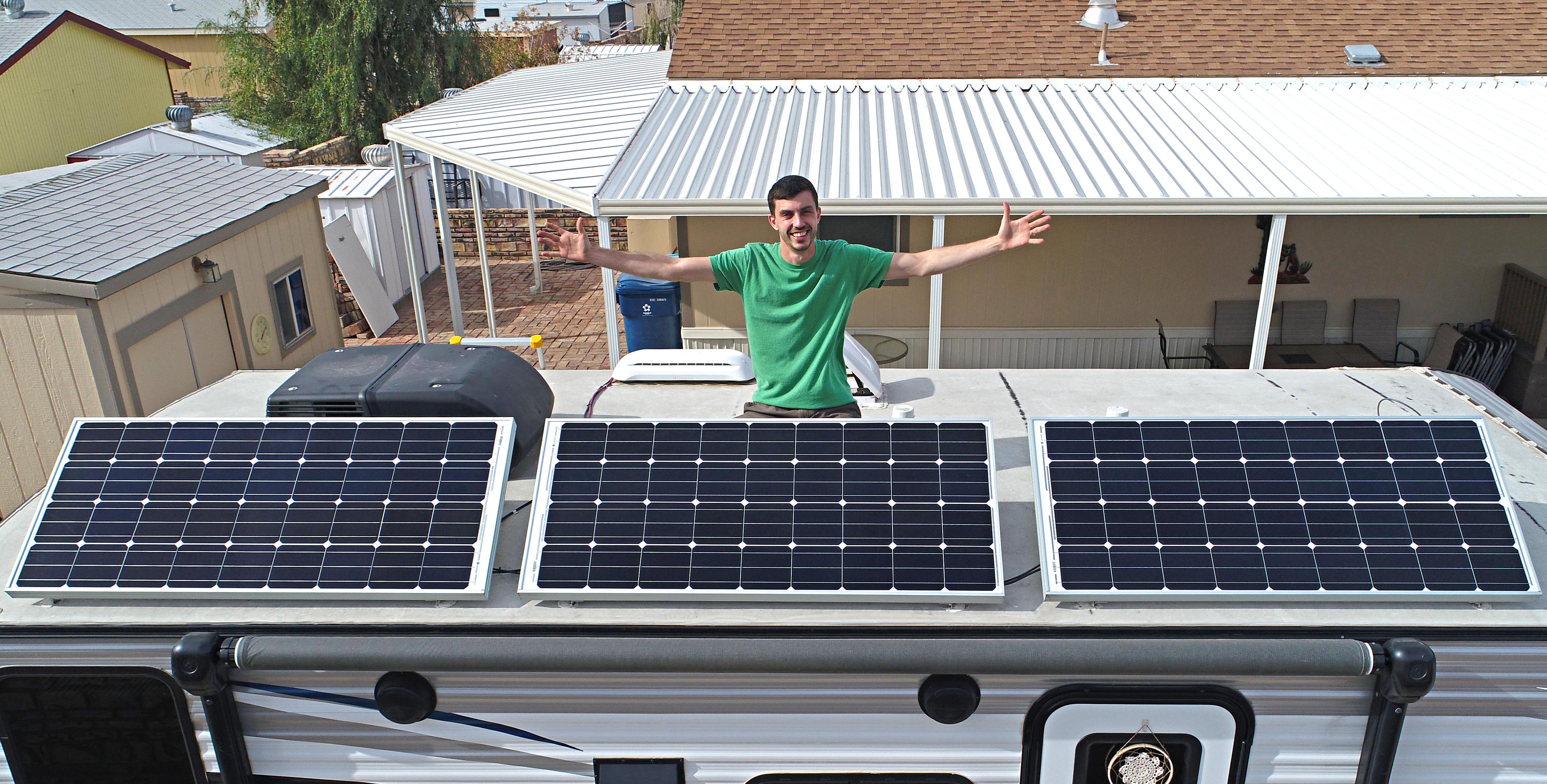 Off Grid Rv Solar Review For Boondocking Dry Camping Full Time Panel Wiring Diagram Further System